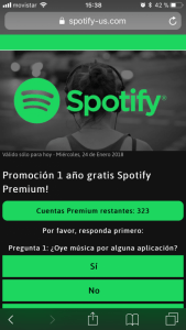 Phishing Spotify